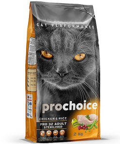 מזון יבש פרו צ'ויס לחתולים מסורסים בוגרים על בסיס עוף ואורז