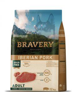 מזון יבש בריוורי לכלב מגזע גדול או בינוני על בסיס חזיר