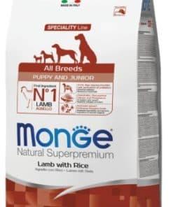 מונג' אוכל לכלבים סופר פרימיום כבש ואורז לגורים