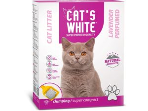 "חול מתגבש לחתול קטס וויט בניחוח לבנדר 10ק""ג - Cats White Cat Litter LAVENDER"