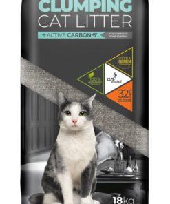 """פטקס חול מתגבש לחתול ללא תוספת בישום מכיל פחם פעיל 18 ק""""ג - Petex cat litter"""